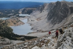 Coming down from Medicine Bow Peak.