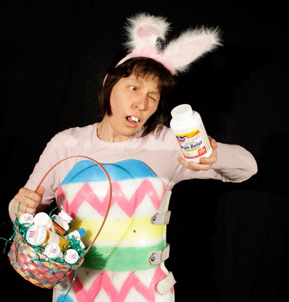 Easter bunny - back brace